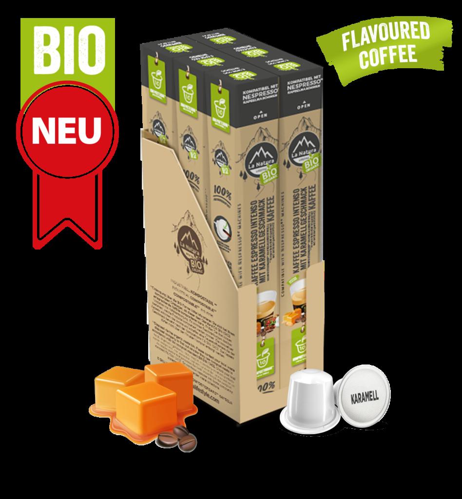 LNL Flavoured Espresso Intenso Karamell BAG 1 MASTER BOX WEB German